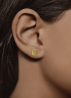 Diamond Point Marigold earrings in 14 karat yellow gold