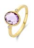 Diamond Point Geelgouden ring, 2.15 ct paarse amethist, Philosophy