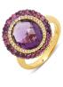 Diamond Point Geelgouden ring, 5.26 ct amethist, Opéra