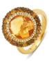 Diamond Point Geelgouden ring, 5.21 ct citrien, Opéra