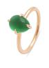 Diamond Point Roségouden ring, 2.10 ct agaat, Little Drops